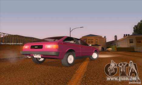 Isuzu Piazza pour GTA San Andreas sur la vue arrière gauche