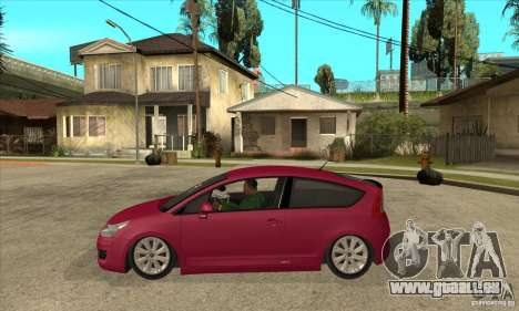 Citroen C4 VTS Coupe 2009 pour GTA San Andreas laissé vue