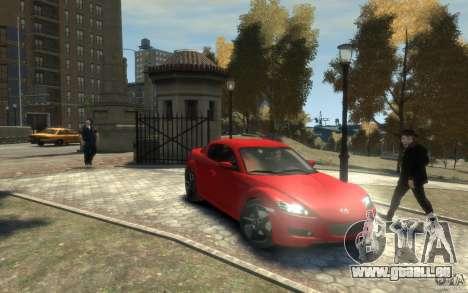 Mazda RX-8 (2006) für GTA 4 Rückansicht