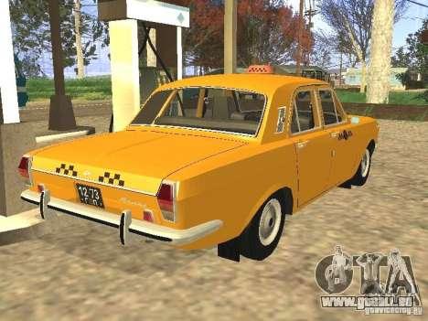 Taxi GAZ 24-01 pour GTA San Andreas laissé vue