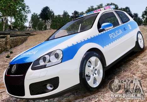 Volkswagen Golf V Polish Police für GTA 4