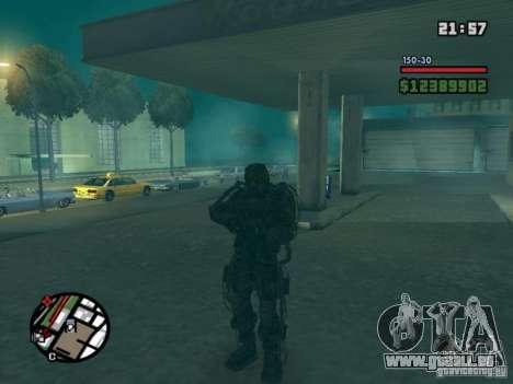 Stalker militaire en èkzoskelete pour GTA San Andreas deuxième écran