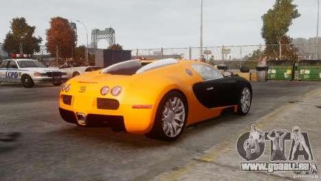 Bugatti Veyron 16.4 pour GTA 4 Vue arrière