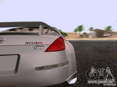 Nissan 350Z Nismo S-Tune für GTA San Andreas Rückansicht