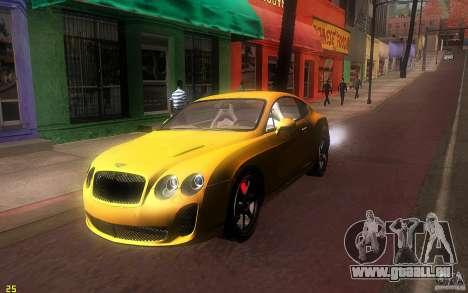 Bentley Continental SS pour GTA San Andreas laissé vue