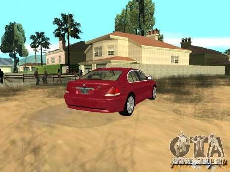 BMW 760I 2002 pour GTA San Andreas vue intérieure