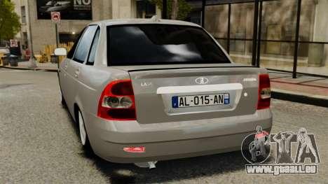 Vaz-2170 pour GTA 4 Vue arrière de la gauche