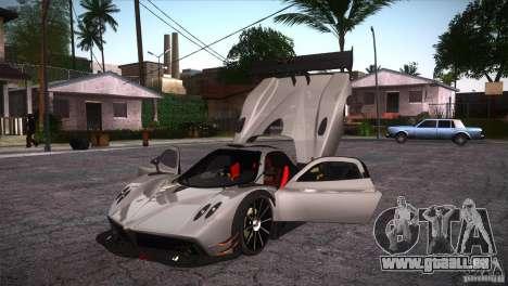 Pagani Zonda R für GTA San Andreas obere Ansicht