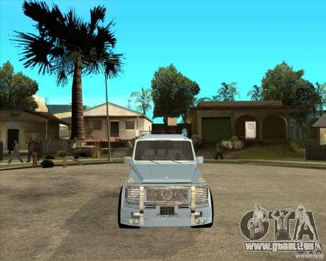 Mercedes Benz G 500 Brabus - Dub Edition pour GTA San Andreas vue arrière