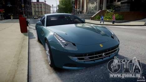 Ferrari FF 2012 pour GTA 4 est une vue de l'intérieur