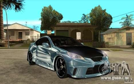 Hyundai Genesis Tuning für GTA San Andreas Rückansicht