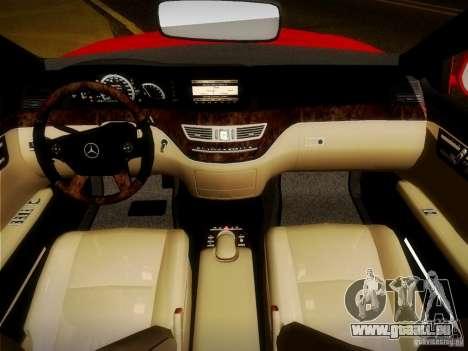 Mercedes-Benz S65 AMG 2007 für GTA San Andreas obere Ansicht