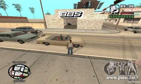 BBS PaynSpray pour GTA San Andreas deuxième écran