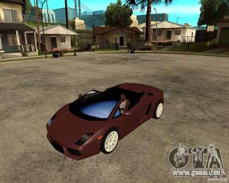 Lamborghini Gallardo LP560-4 Spyder pour GTA San Andreas