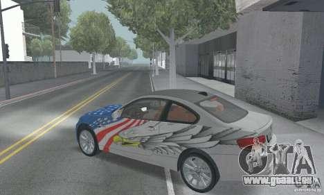 BMW M3 E92 Stock für GTA San Andreas obere Ansicht