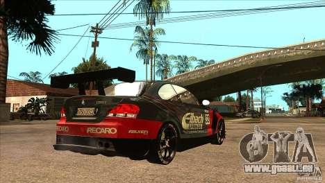 BMW 135i Coupe GP Edition Skin 2 pour GTA San Andreas vue de droite