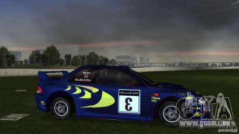 Subaru Impreza 22B Rally Edition pour une vue GTA Vice City de la droite