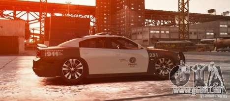 Dodge Charger 2011 Police pour GTA 4 est une gauche
