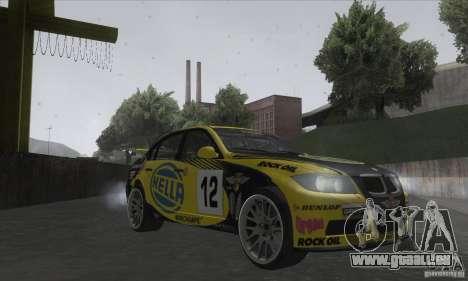 BMW 320i GRID pour GTA San Andreas vue arrière