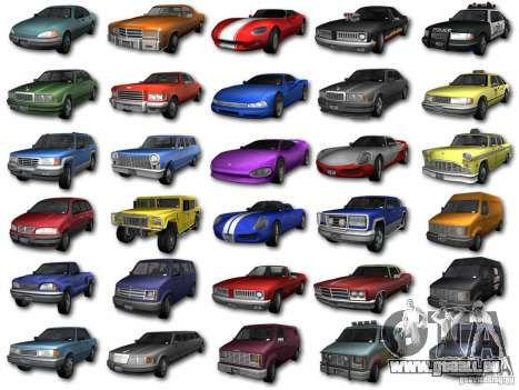 GTA3 HD Vehicles Tri-Pack III v.1.1 pour GTA San Andreas laissé vue