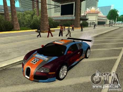 Bugatti Veyron für GTA San Andreas rechten Ansicht