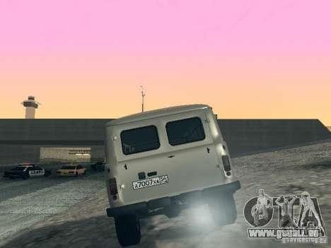 UAZ 2206 für GTA San Andreas zurück linke Ansicht