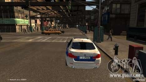 BMW 550i Azeri Police YPX pour GTA 4 Vue arrière de la gauche