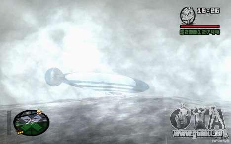 Grand dirigeable pour GTA San Andreas vue de droite