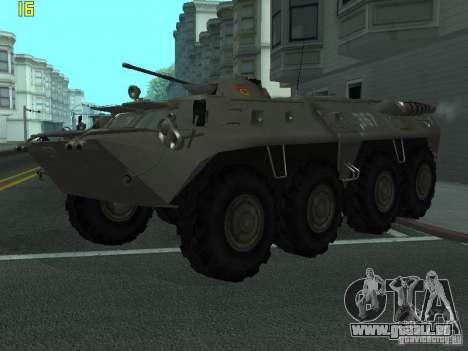BTR-80 für GTA San Andreas Rückansicht