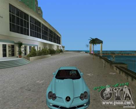 Mercedess Benz SLR Maclaren pour GTA Vice City sur la vue arrière gauche