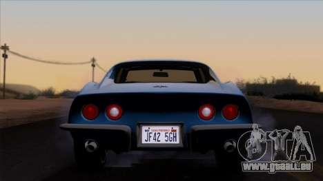 Chevrolet Corvette C3 Stingray T-Top 1969 v1.1 pour GTA San Andreas vue intérieure