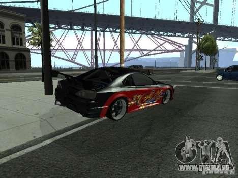 Nissan S15 vDragon pour GTA San Andreas sur la vue arrière gauche