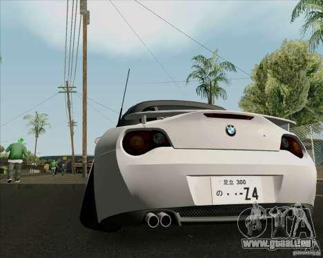 BMW Z4 Hellaflush pour GTA San Andreas vue de droite