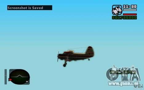 Antonov an-2 pour GTA San Andreas vue intérieure