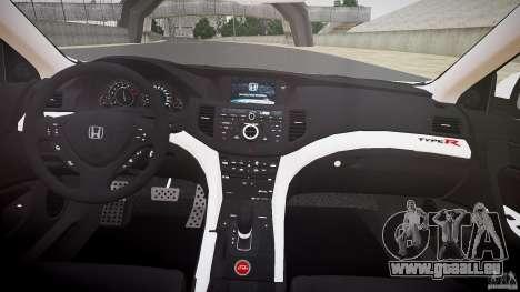 Honda Accord Type R NYPD (City Patrol 1090) ELS pour GTA 4 vue de dessus