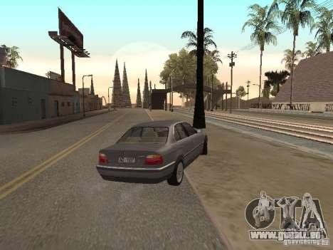 BMW 740 pour GTA San Andreas sur la vue arrière gauche
