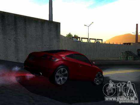 Audi TT 2009 v2.0 pour GTA San Andreas vue intérieure