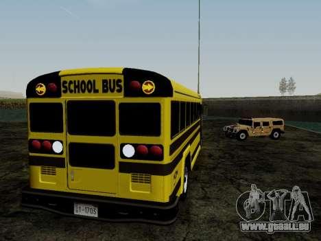 International Harvester B-Series 1959 School Bus für GTA San Andreas Rückansicht