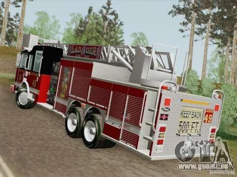 Pierce Rear Mount SFFD Ladder 49 pour GTA San Andreas laissé vue