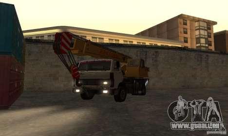 MAZ-LKW-Kran für GTA San Andreas Rückansicht