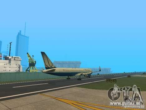 Boeing 767-300 United Airlines New Livery pour GTA San Andreas vue de droite