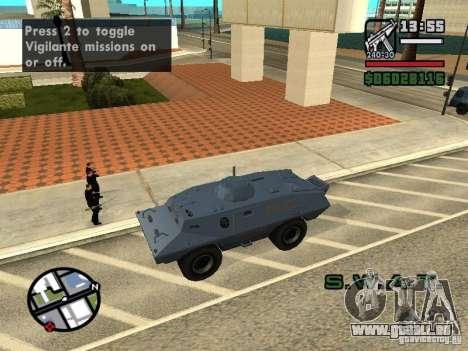 SWAT et du FBI camion rouler dans les rues de pour GTA San Andreas cinquième écran