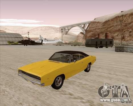 Dodge Charger RT 1968 Bullit clone für GTA San Andreas