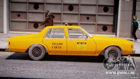 Chevrolet Impala Taxi 1983 [Final] für GTA 4 hinten links Ansicht