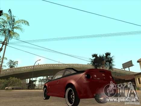 Chevrolet Cobalt ss Tuning für GTA San Andreas zurück linke Ansicht