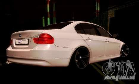 BMW 330 E90 pour GTA San Andreas vue de droite