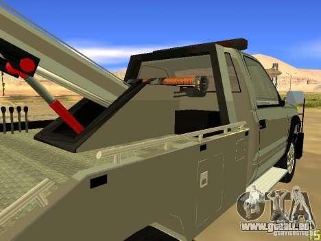 GMC Sierra Tow Truck pour GTA San Andreas vue arrière