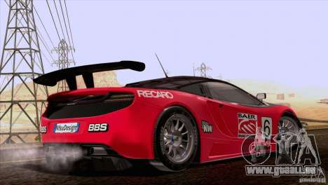 McLaren MP4-12C Speedhunters Edition pour GTA San Andreas vue de dessus