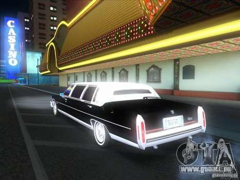 Cadillac Fleetwood Limousine 1985 für GTA San Andreas Rückansicht
