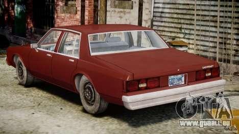 Chevrolet Impala 1983 v2.0 pour GTA 4 vue de dessus